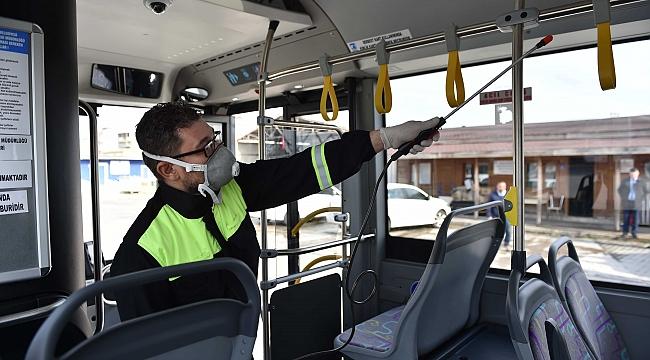 Toplu Taşıma Araçları Hijyen Amaçlı İlaçlanıyo