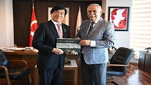 Japonya Büyükelçisi Miyajima'dan Başkan Gökhan'a ziyaret