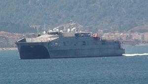 Amerikan savaş gemisi Çanakkale Boğaz'ndan geçti