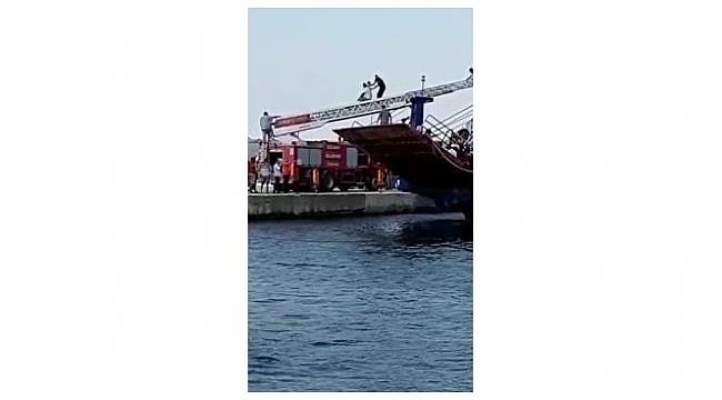Can pazarının yaşandığı feribottaki tahliye anları kameralara yansıdı