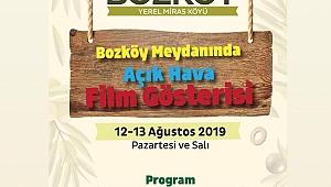 Ezine-Geyikli  Boz Köyde Açık Hava Film Gösterisi