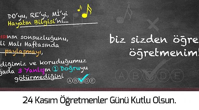 Belediye Başkanı Ülgür Gökhan'ın 24 Kasım Öğretmenler Günü Mesajı…