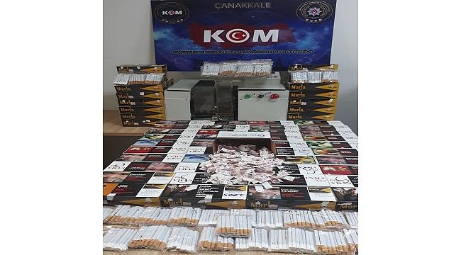 Çanakkale'de kaçak sigara operasyonunda 1 kişi gözaltına alındı