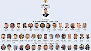 AK Parti Çanakkale İl Başkanlığı Yönetimi açıklandı