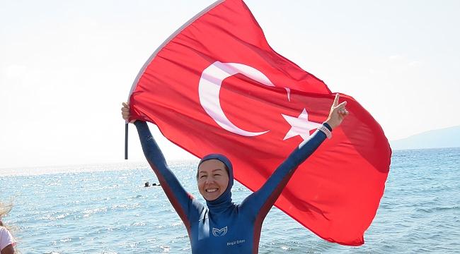 Milli dalışçı Birgül Erken'den yeni dünya rekoru denemesi